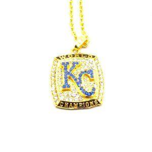 USA KC Royals 2015 World Series Pendant Necklace
